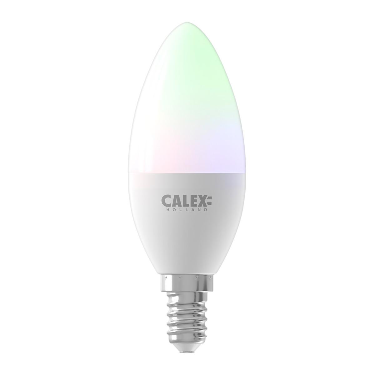 Bilde av Calex Smart Mignon Led Pære E14 5w 470lm 2200-4000k | Tuya Wifi - Color Ambiance + Innstillbar Hvit