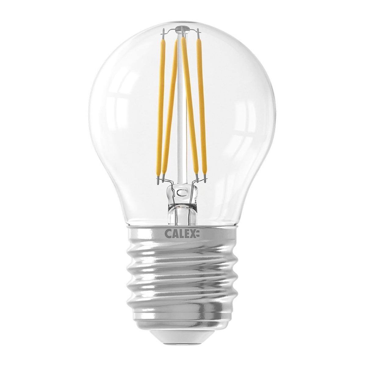 Bilde av Calex Smart Sfærisk Led Pære E27 4,5w 450lm 1800-3000k Filament | Tuya Wifi - Innstillbar Hvit