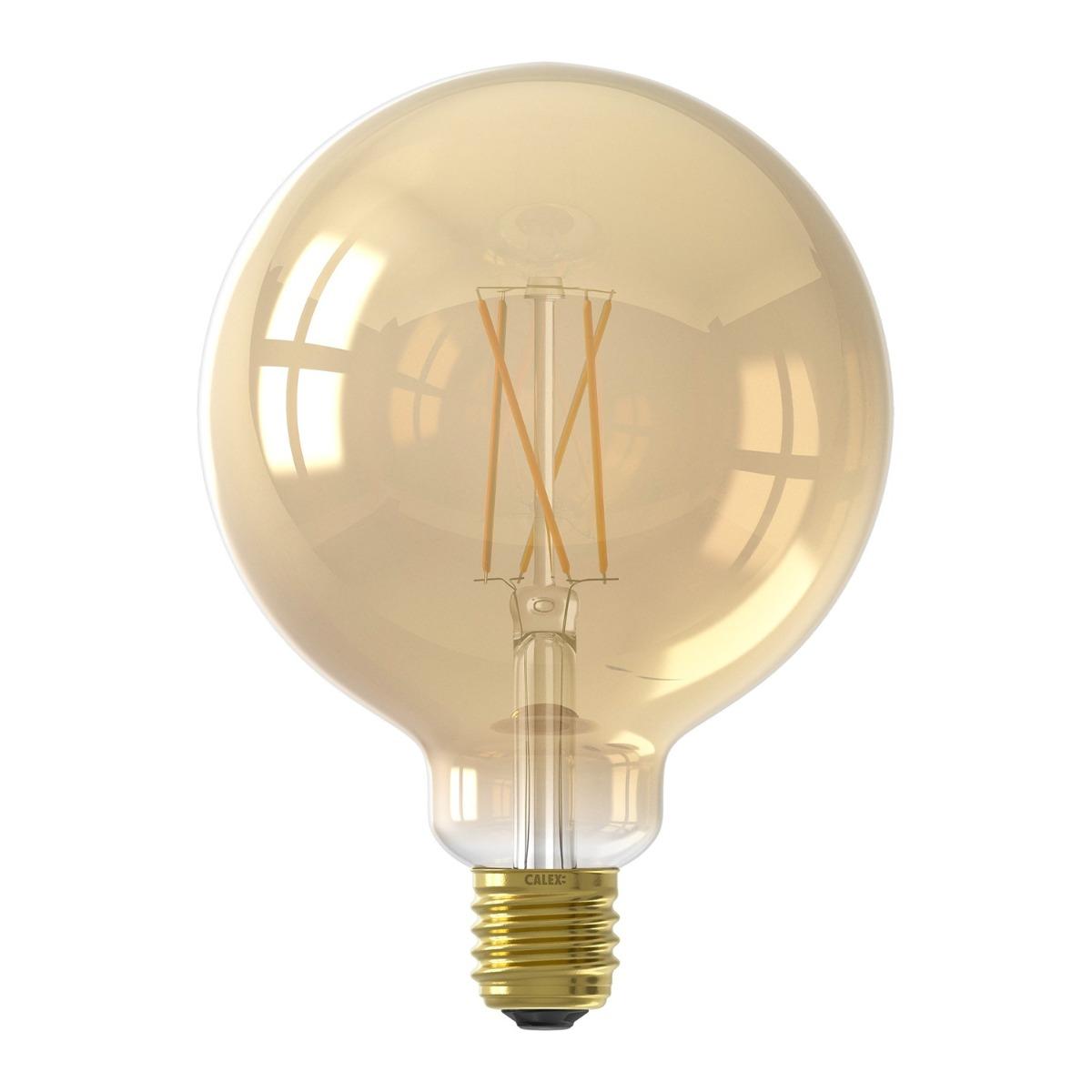Bilde av Calex Smart Globe G125 Led Pære E27 7w 806lm 1800-3000k Filament | Tuya Wifi - Innstillbar Hvit