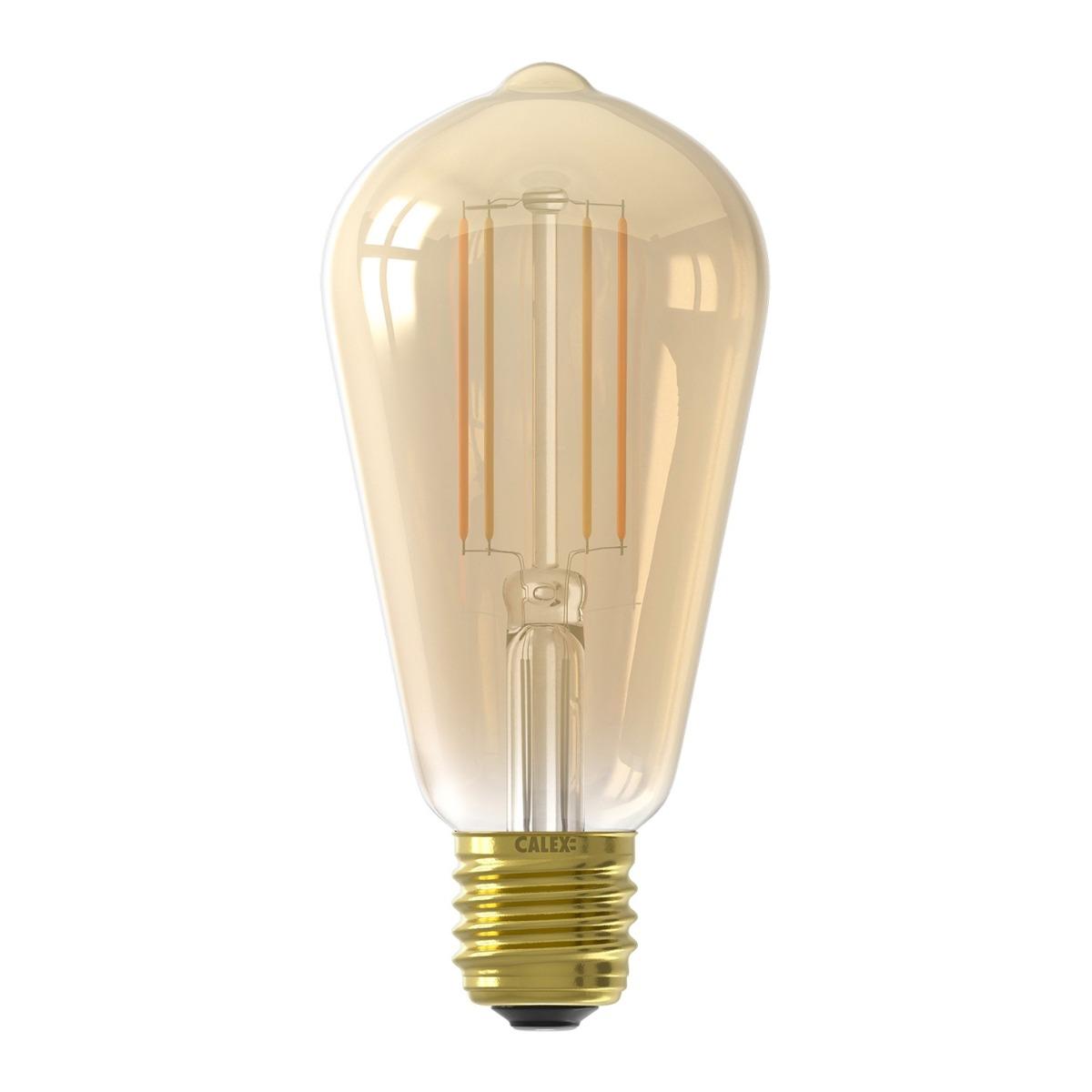Bilde av Calex Smart Rustikk Filament Led Pære Gull E27 7w 806lm 1800-3000k| Tuya Wifi - Innstillbar Hvit