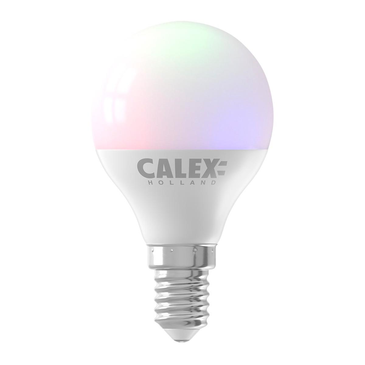 Bilde av Calex Smart Sfærisk Led Pære E14 5w 470lm 2200-4000k | Tuya Wifi - Color Ambiance + Innstillbar Hvit