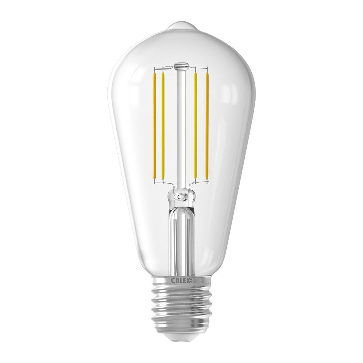 Bilde av Calex Smart Rustikk Filament Led Pære E27 7w 806lm 1800-3000| Tuya Wifi - Innstillbar Hvit
