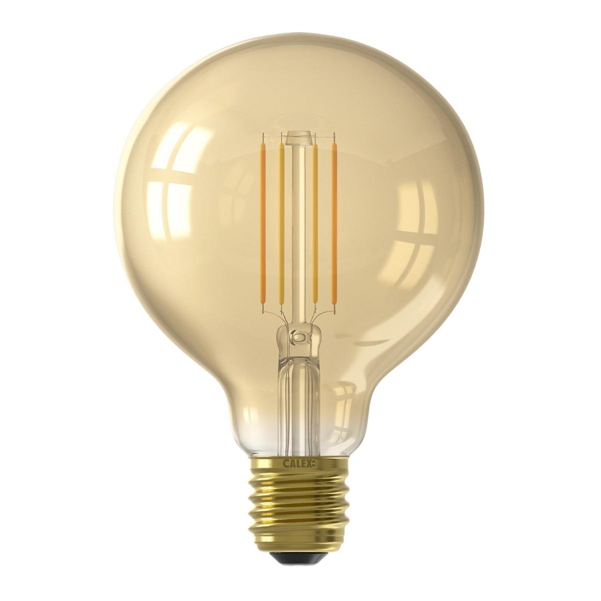 Bilde av Calex Smart Globe G95 Led Pære E27 7w 806lm 1800-3000k Filament | Tuya Wifi - Innstillbar Hvit
