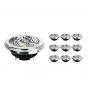 Fordelspakning 10x Noxion Lucent LED spot AR111 G53 Pro 12V 12W 927 40D| ekstra varm hvit - beste fargegjengivelse - dimbar - erstatter 50W