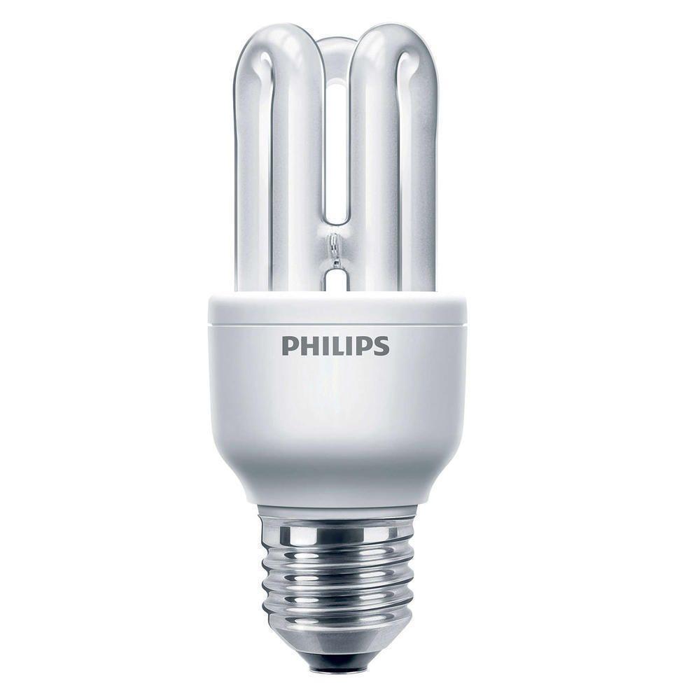 Philips Genie ESaver 8W 827 E27   ekstra varm hvit