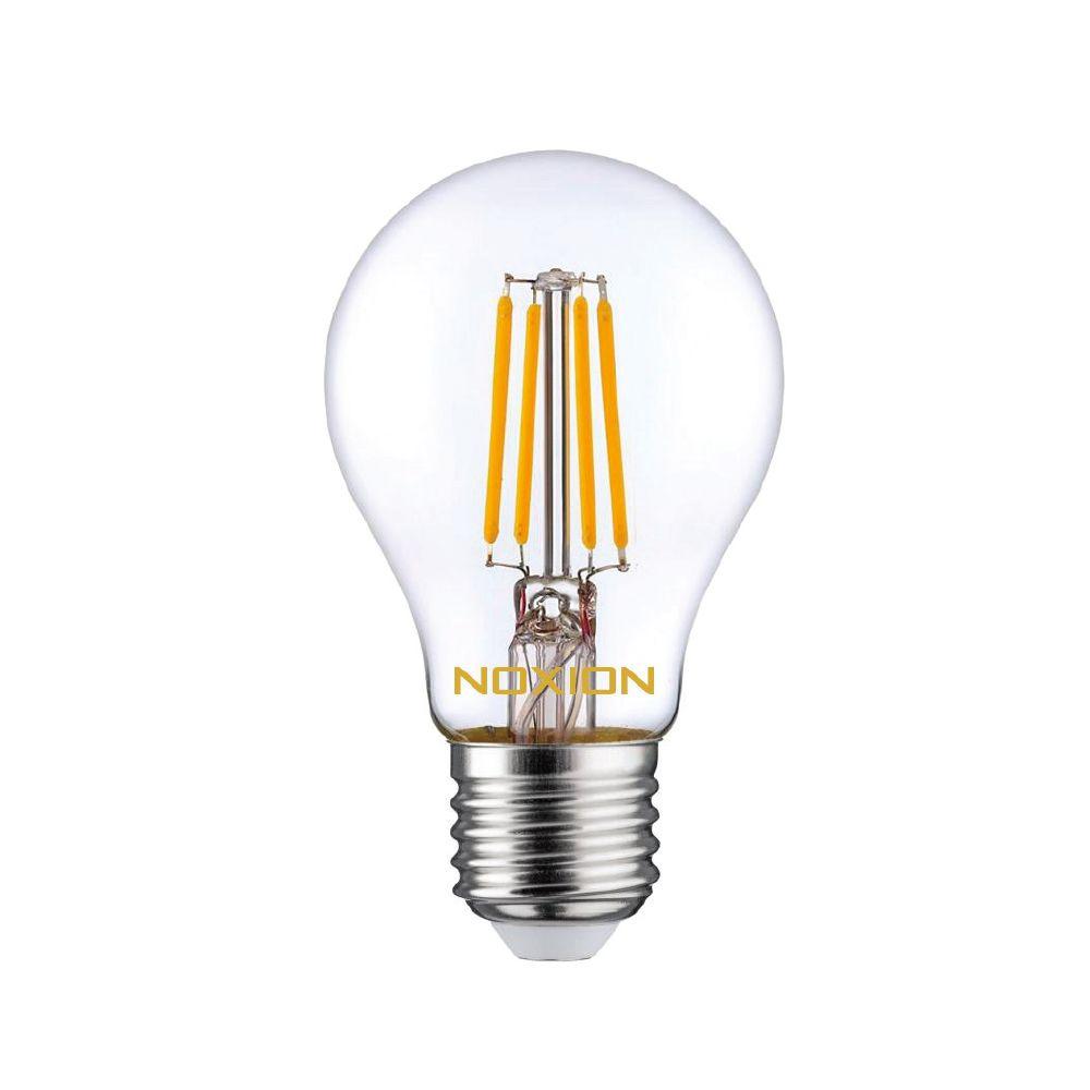 Noxion Lucent filament LED Bulb 8W 827 A60 E27 klar | ekstra varm hvit - erstatter 75W