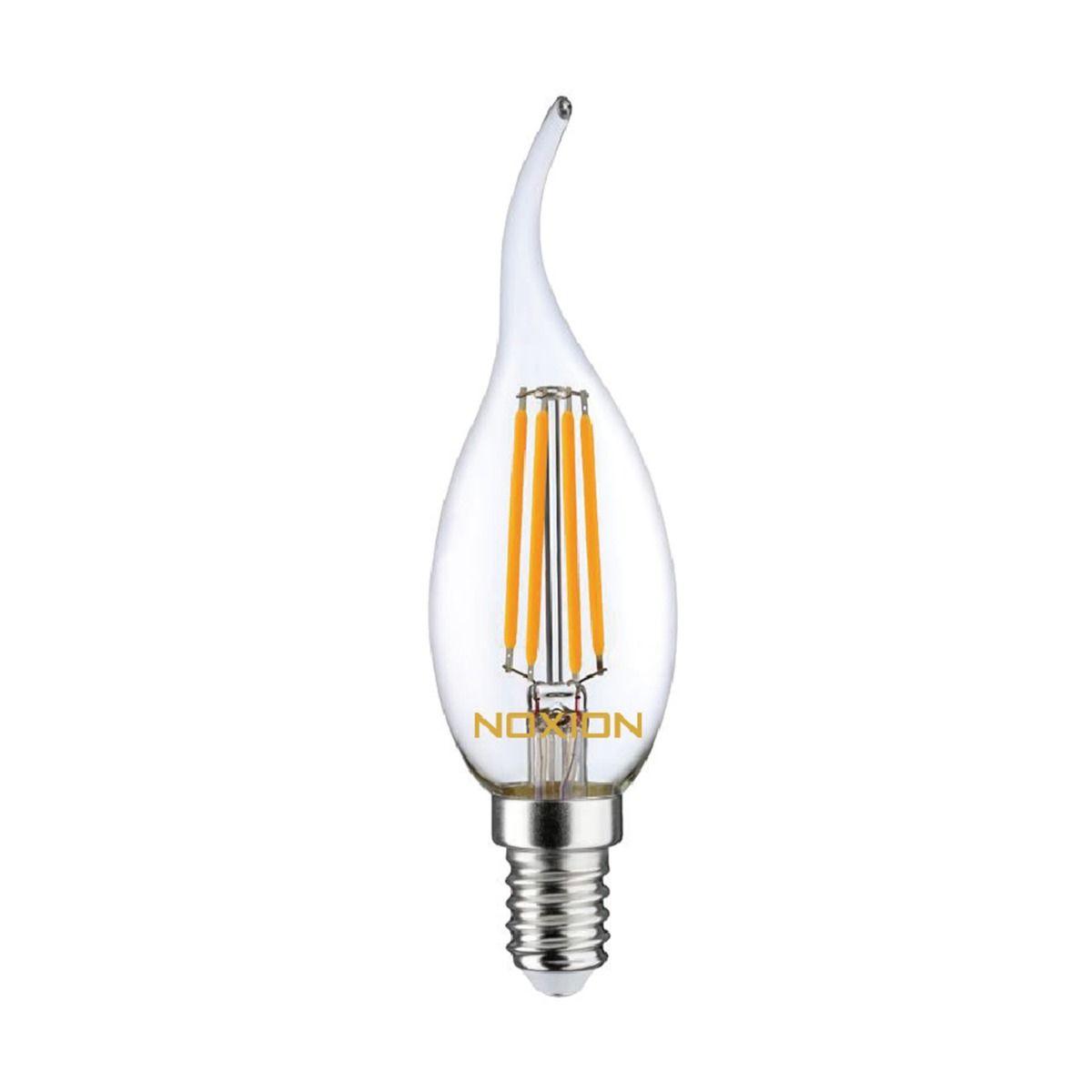 Noxion Lucent filament LED Candle 4.5W 827 BA35 E14 klar   dimbar - ekstra varm hvit - erstatter 40W