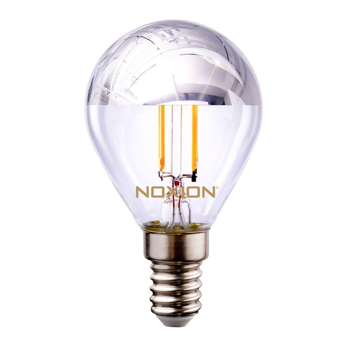 Noxion Lucent filament LED Lustre sølv mirror P45 E14 220-240V 4.5W 400LM CRI80 2700K ND (40W eqv)