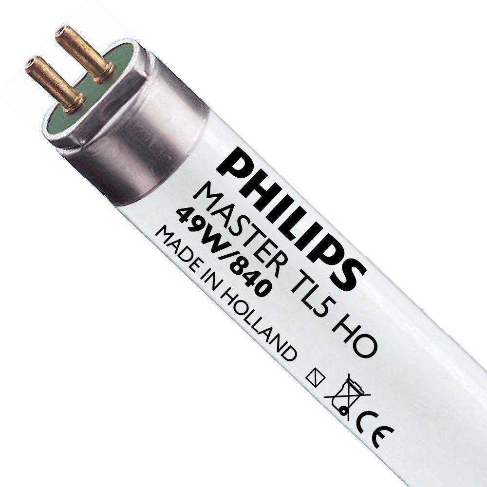 Philips TL5 HO 49W 840 (MASTER) | 145cm - kald hvit
