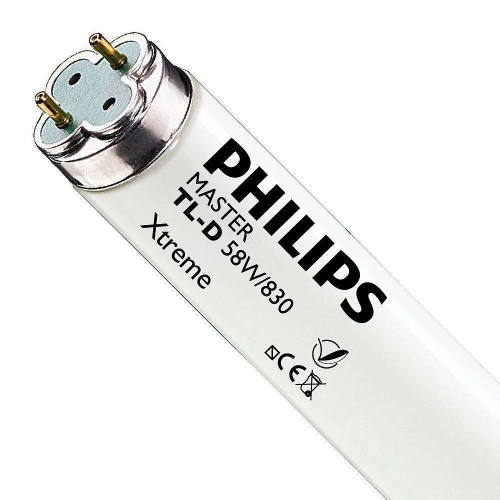 Philips TL-D Xtreme 58W 830 (MASTER) | 150cm - varm hvit