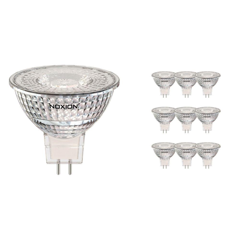 Fordelspakning 10x Noxion LED spot GU5.3 5W 830 60D 470lm   dimbar - varm hvit - erstatter 35W