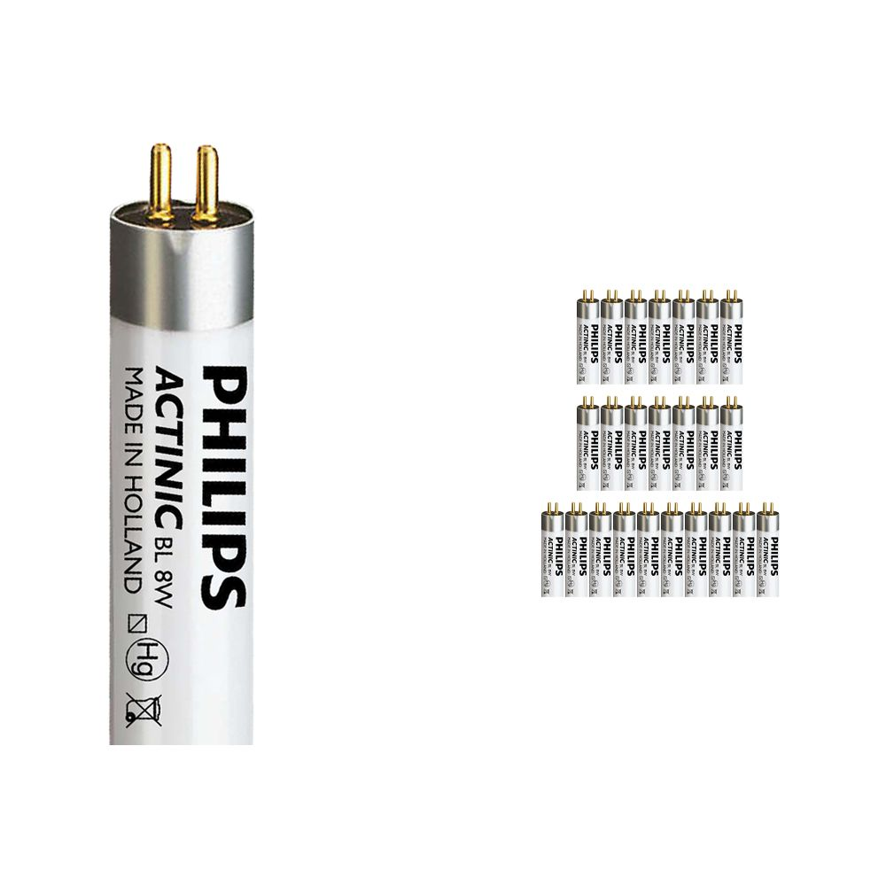 Fordelspakning 25x Philips Actinic BL TL 8W 10 G5