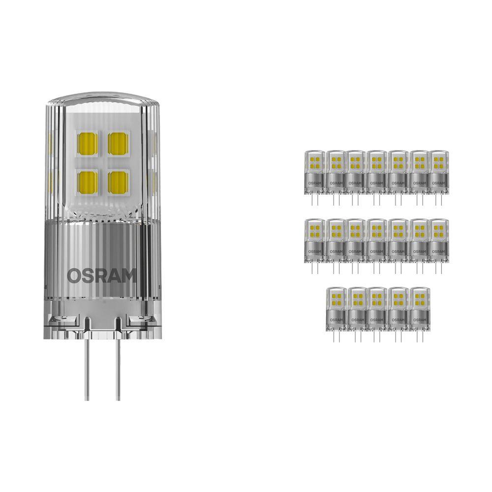 Fordelspakning 20x Osram Parathom LED PIN G4 2W 827   dimbar - ekstra varm hvit - erstatter 20W