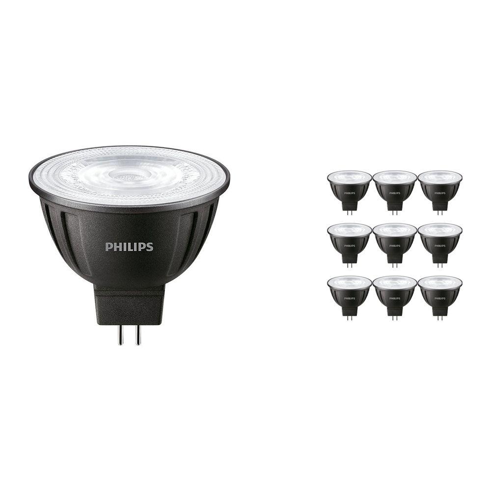 Fordelspakning 10x Philips LEDspot LV GU5.3 MR16 8W 830 24D (MASTER) | varm hvit - dimbar - erstatter 50W