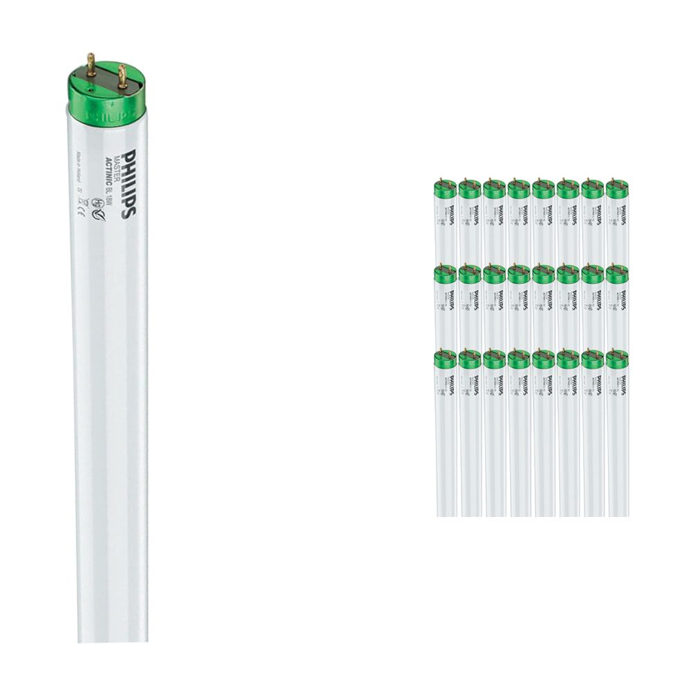 Multipack 25x Philips TL-D 15W 10 Actinic BL (MASTER)   45cm