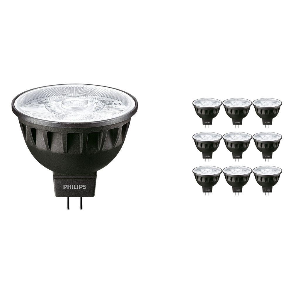 Fordelspakning 10x Philips LEDspot ExpertColor GU5.3 MR16 6.5W 930 10D (MASTER)   varm hvit - beste fargegjengivelse - dimbar - erstatter 35W