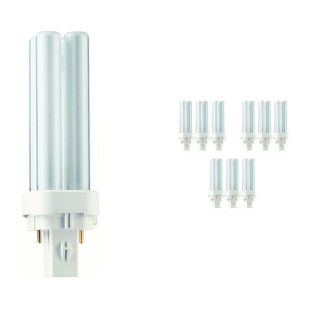Fordelspakning 10x Philips PL-C 10W 830 2P (MASTER)   varm hvit - 2-stift