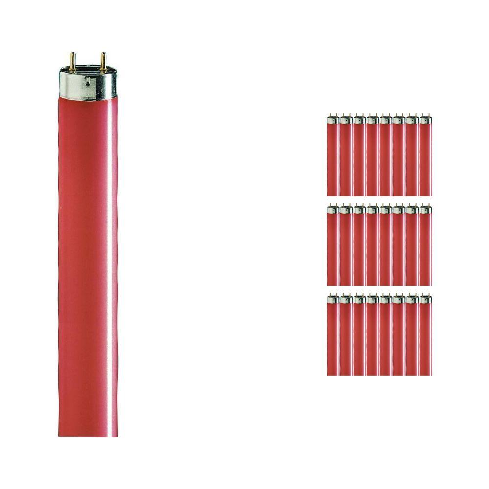 Fordelspakning 25x Philips TL-D 36W rød - 120cm (MASTER)