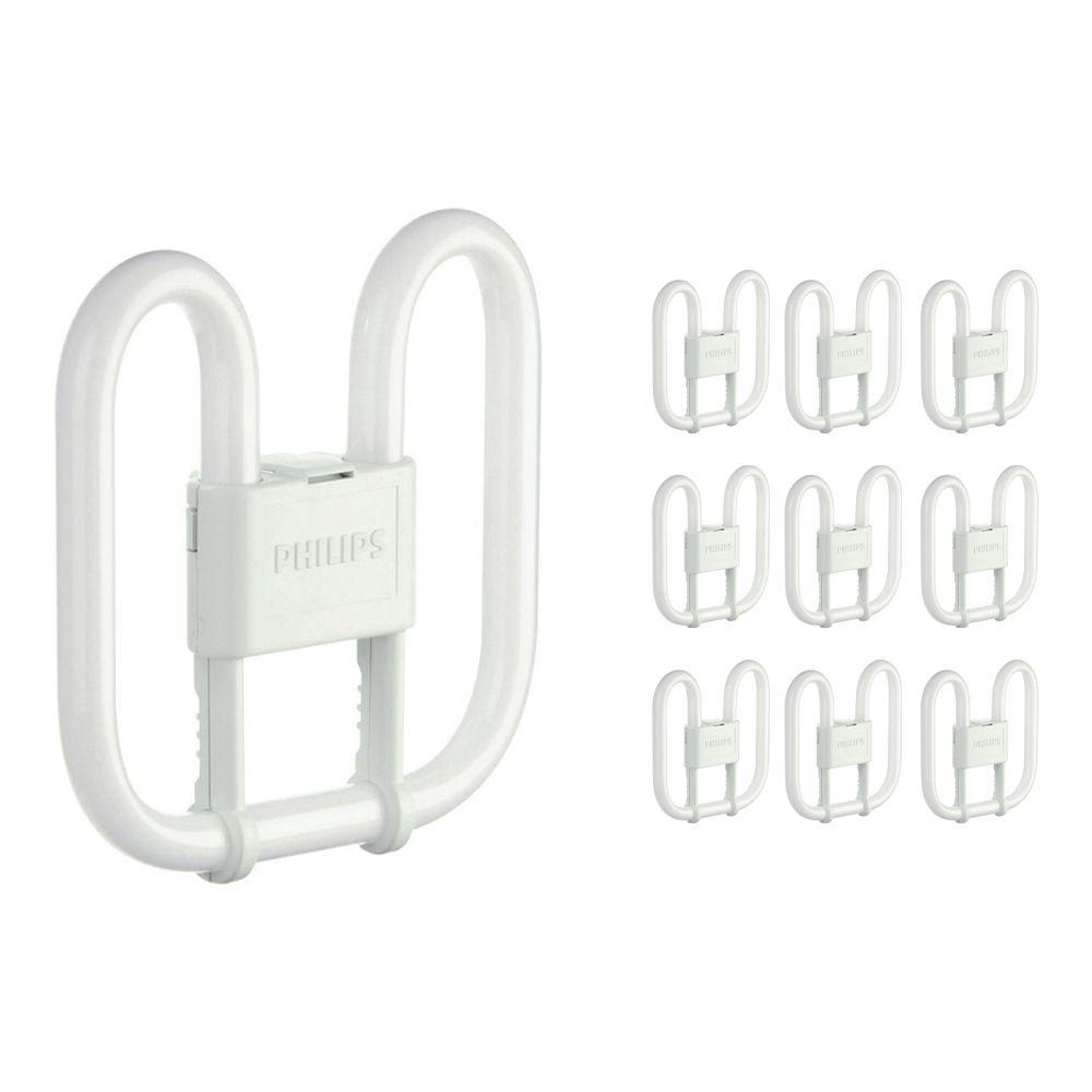 Fordelspakning 10x Philips PL-Q 16W 830 2P (MASTER)   varm hvit - 2-stift