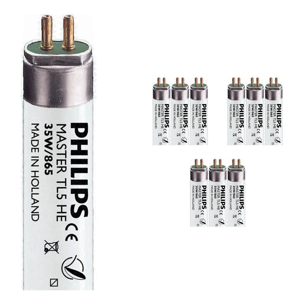 Fordelspakning 10x Philips TL5 HE 35W 865 (MASTER)   145cm - daglys