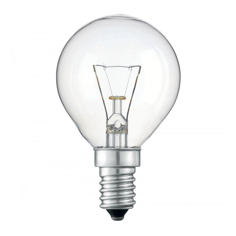 Standard Glødepære  Rund klar P45 E14 25W 230V