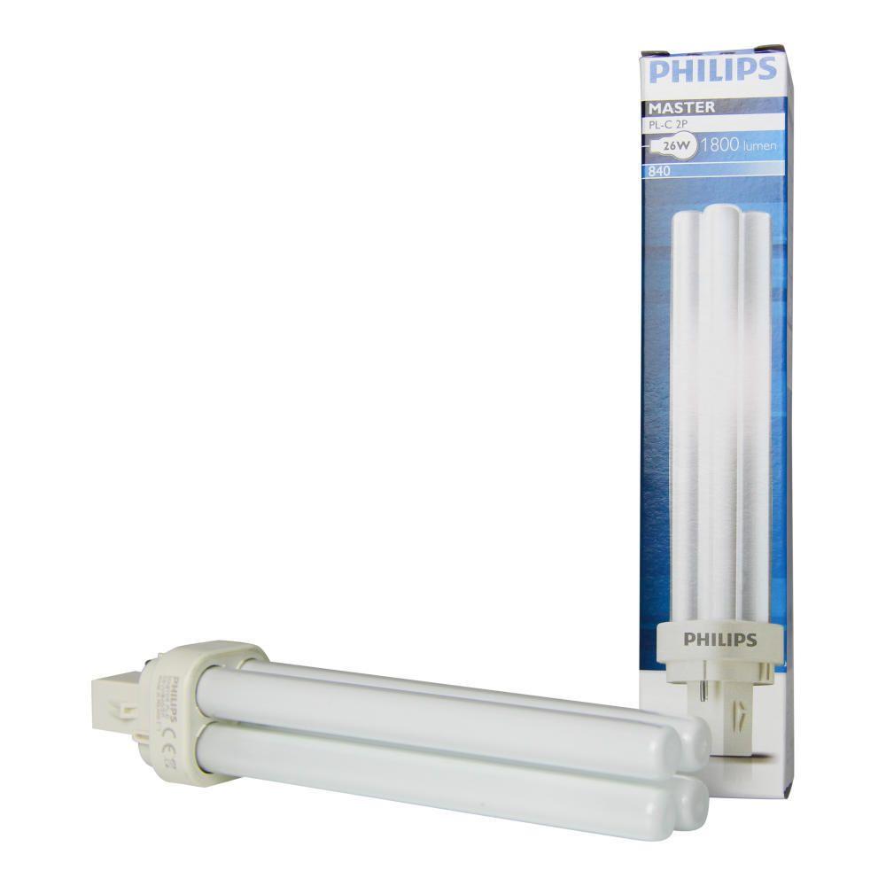 Philips PL-C 26W 840 2P (MASTER) | kald hvit - 2-stift