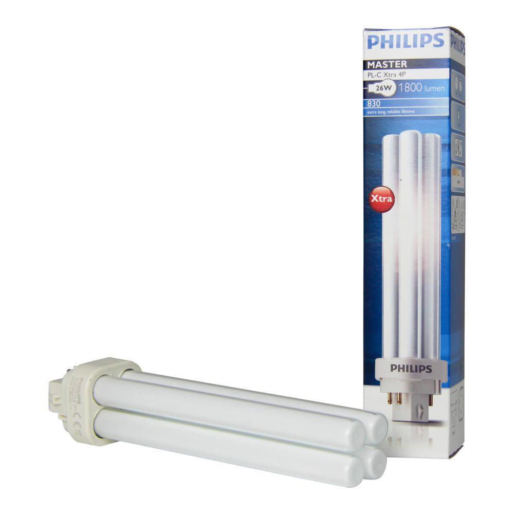 Philips PL-C Xtra 26W 830 4P (MASTER) | varm hvit - 4-stift