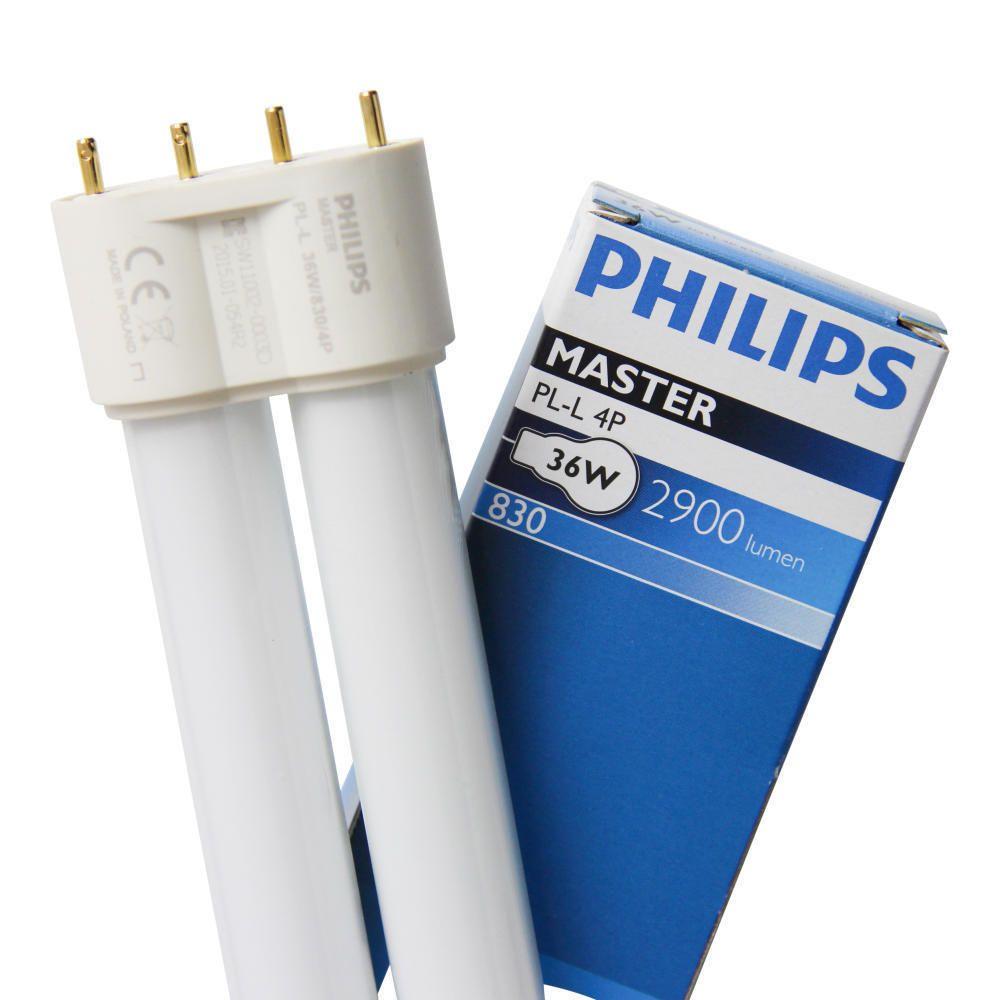 Philips PL-L 36W 830 4P (MASTER)   varm hvit - 4-stift