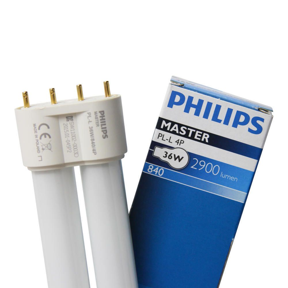 Philips PL-L 36W 840 4P (MASTER) | kald hvit - 4-stift