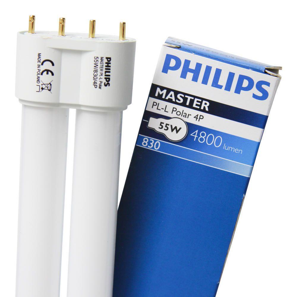 Philips PL-L Polar 55W 830 4P (MASTER)   varm hvit - 4-stift