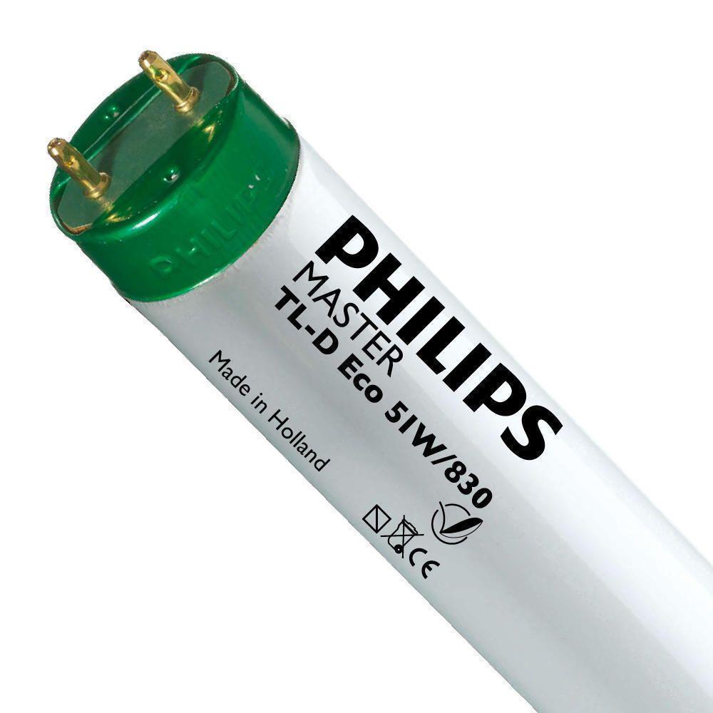 Philips TL-D Eco 51W 830 (MASTER) | 150cm - varm hvit