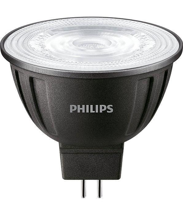 Philips LEDspot LV GU5.3 MR16 8W 830 24D (MASTER)   varm hvit - dimbar - erstatter 50W
