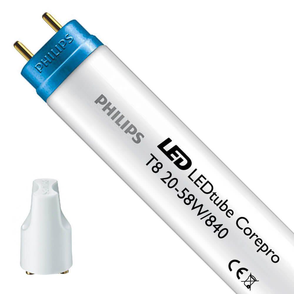 Philips CorePro LEDtube EM 20W 840 150cm | kald hvit - LED tenner inkl. - erstatter 58W