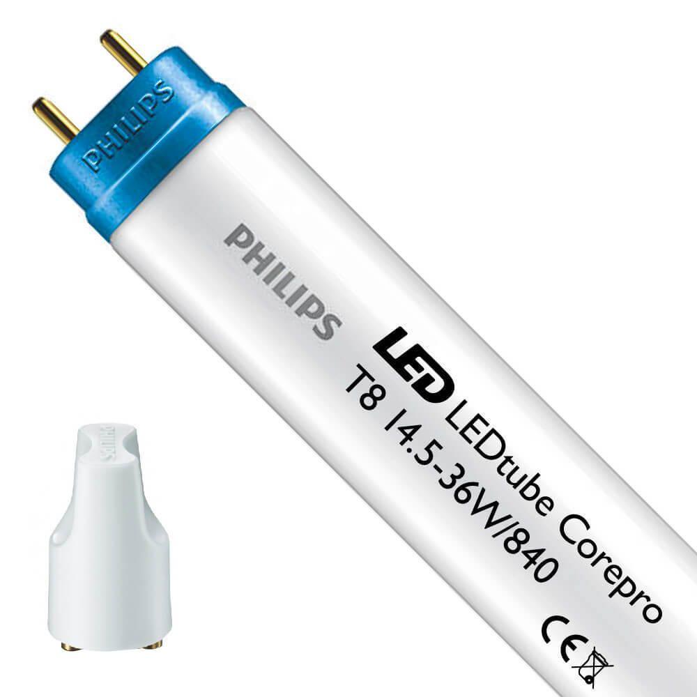 Philips CorePro LEDtube EM 14.5W 840 120cm | kald hvit - LED tenner inkl. - erstatter 36W
