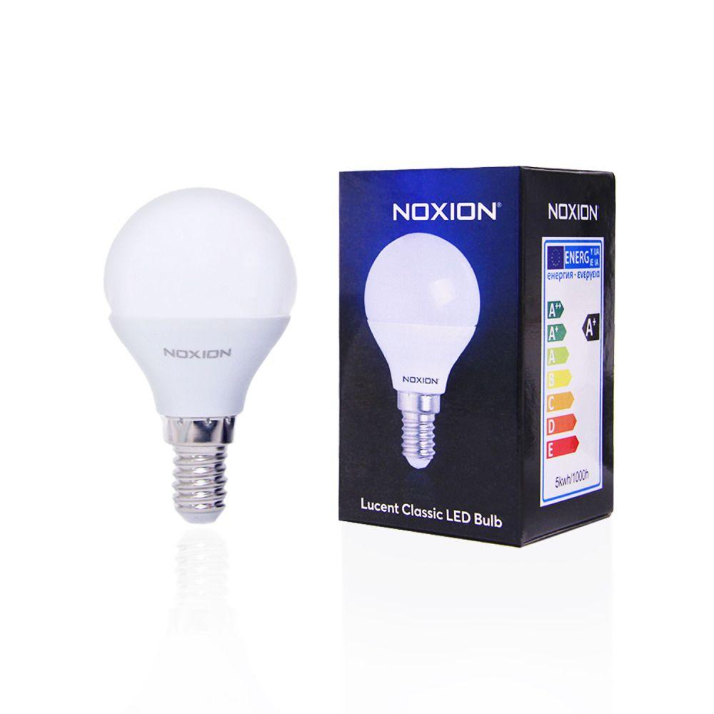 Noxion Lucent LED Classic Lustre 5W 827 P45 E14 | ekstra varm hvit - erstatter 40W