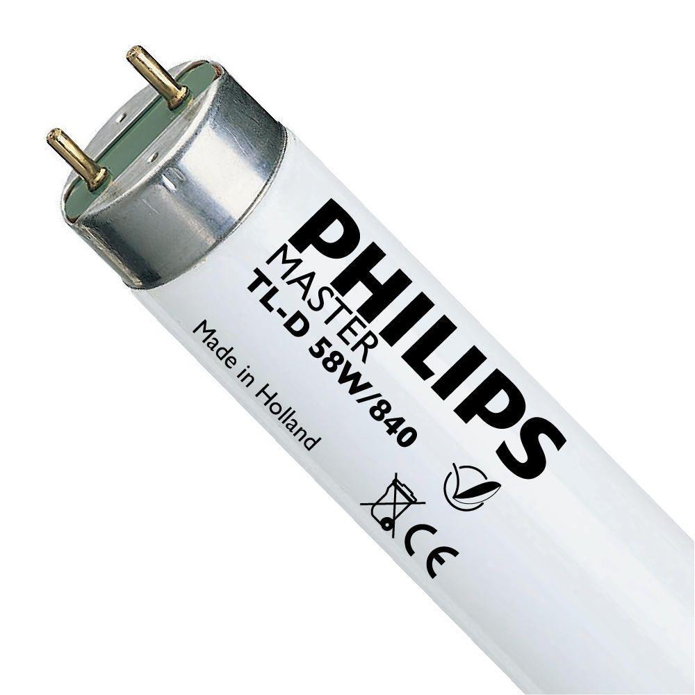 Philips TL-D 58W 840 Super 80 (MASTER) | 150cm - kald hvit